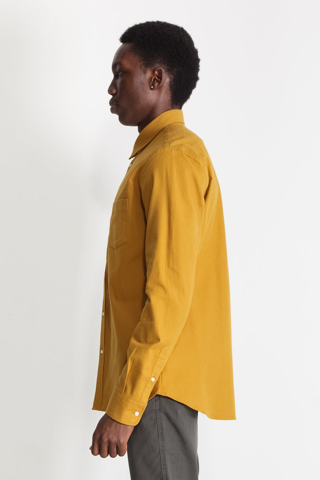 Japanese Yarn Dyed Flannel in Mustard 01