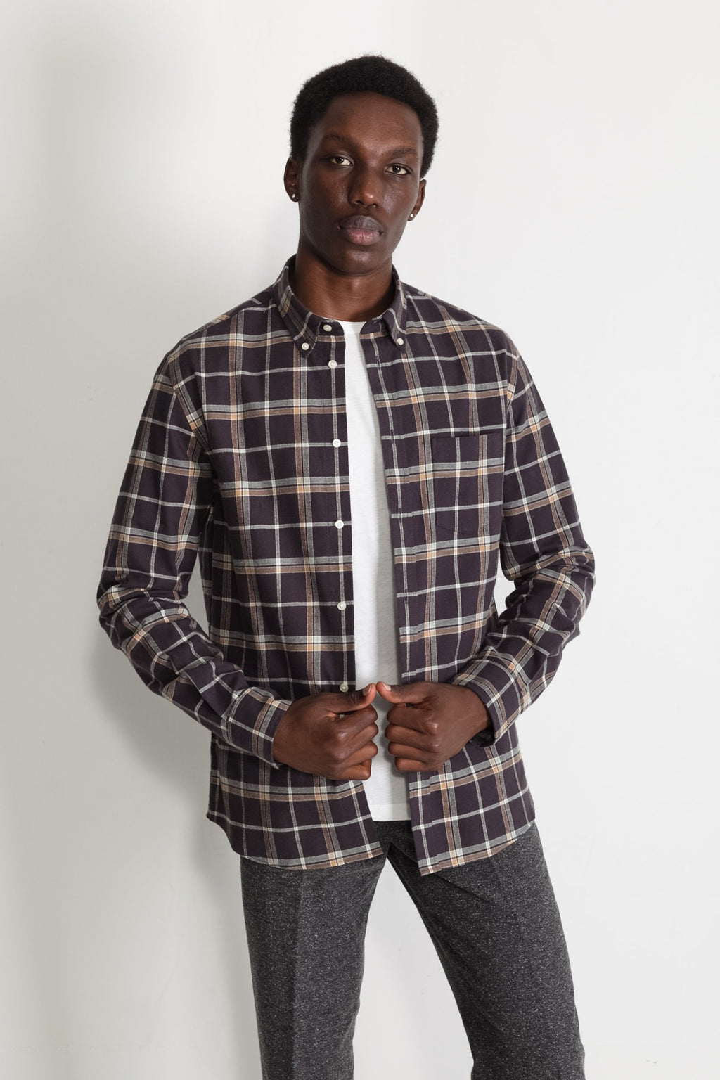Japanese Newton Plaid in Brown 01