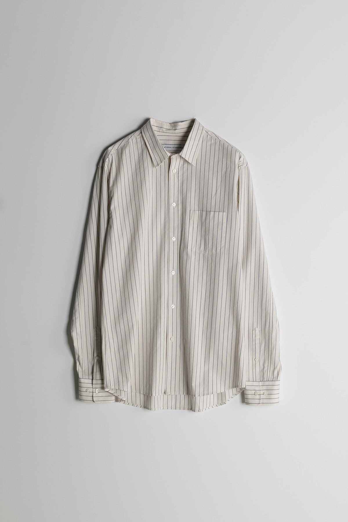Baseball Stripe in Off White and Blue 008