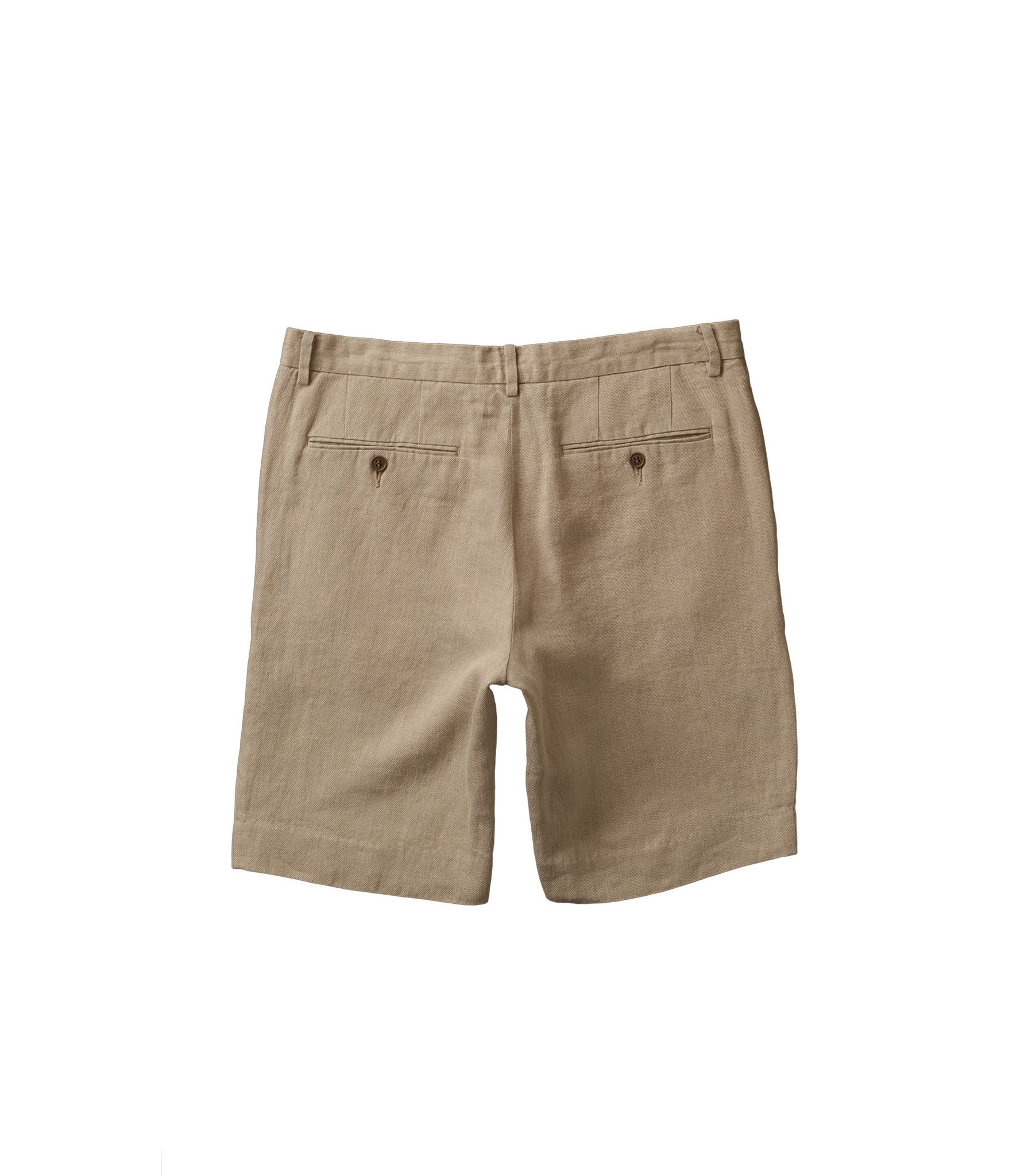 Linen shorts in Natural