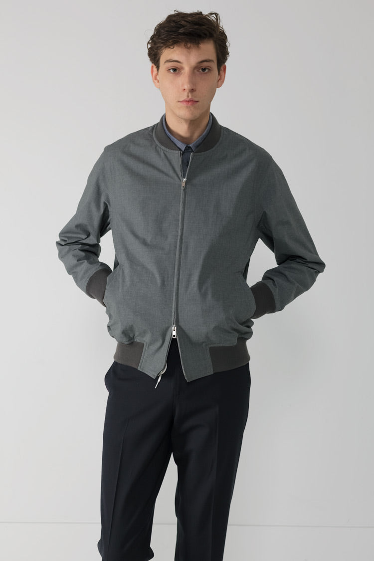 Ready-to-wear Horse cloth flight Jacket in Grey 001