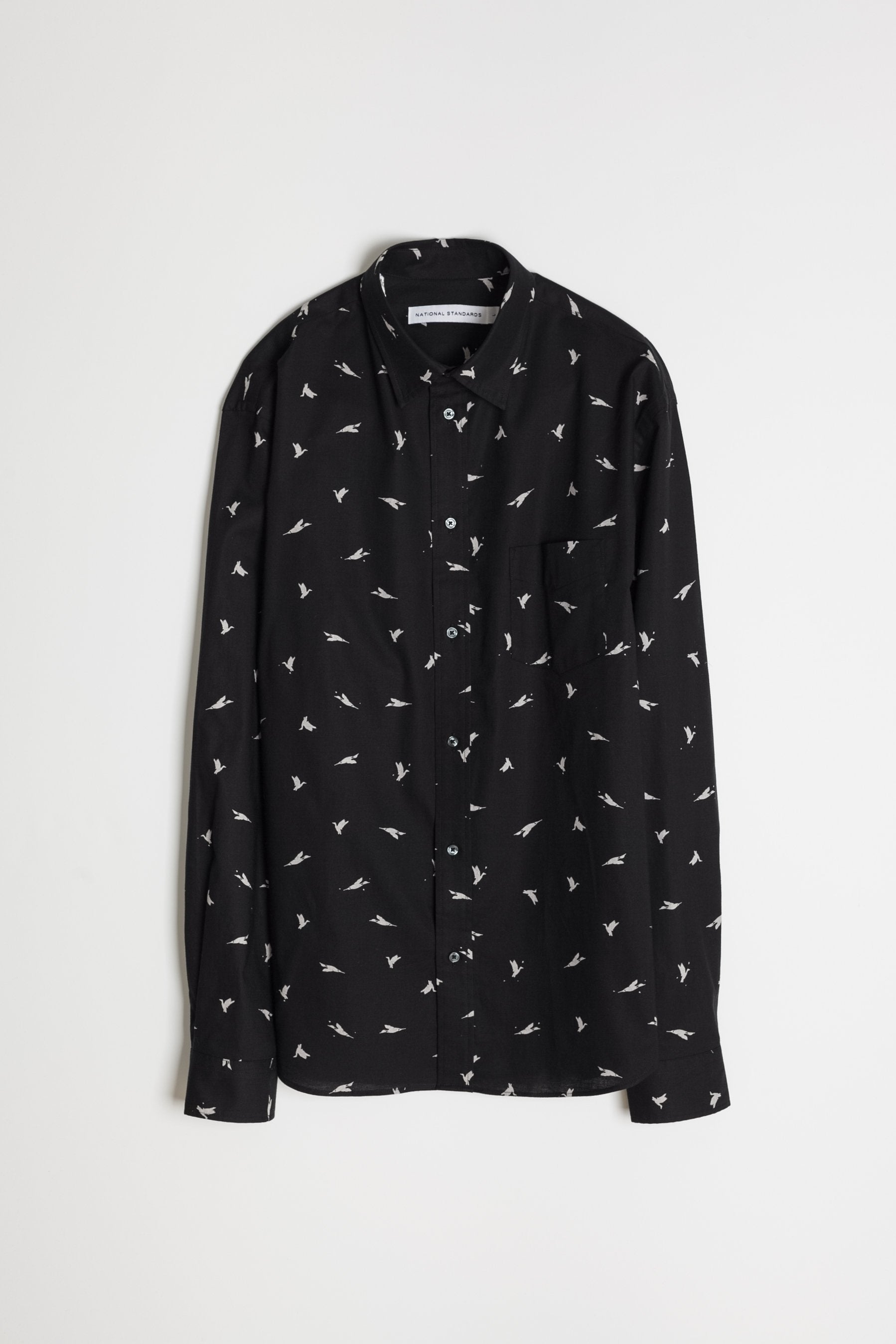 Japanese Bird Print in Black 06