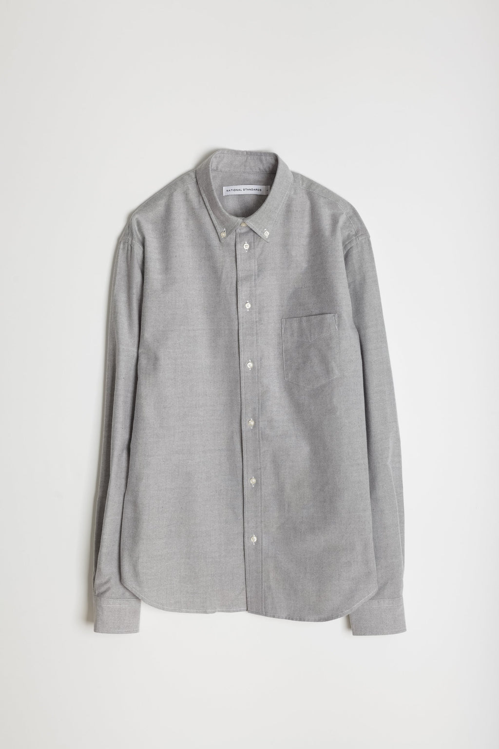 Japanese Supima Brushed Oxford in Grey 06