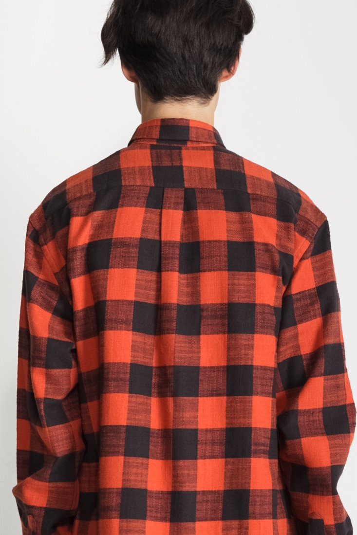 Japanese Buffalo Plaid in Burnt Orange and Black 01