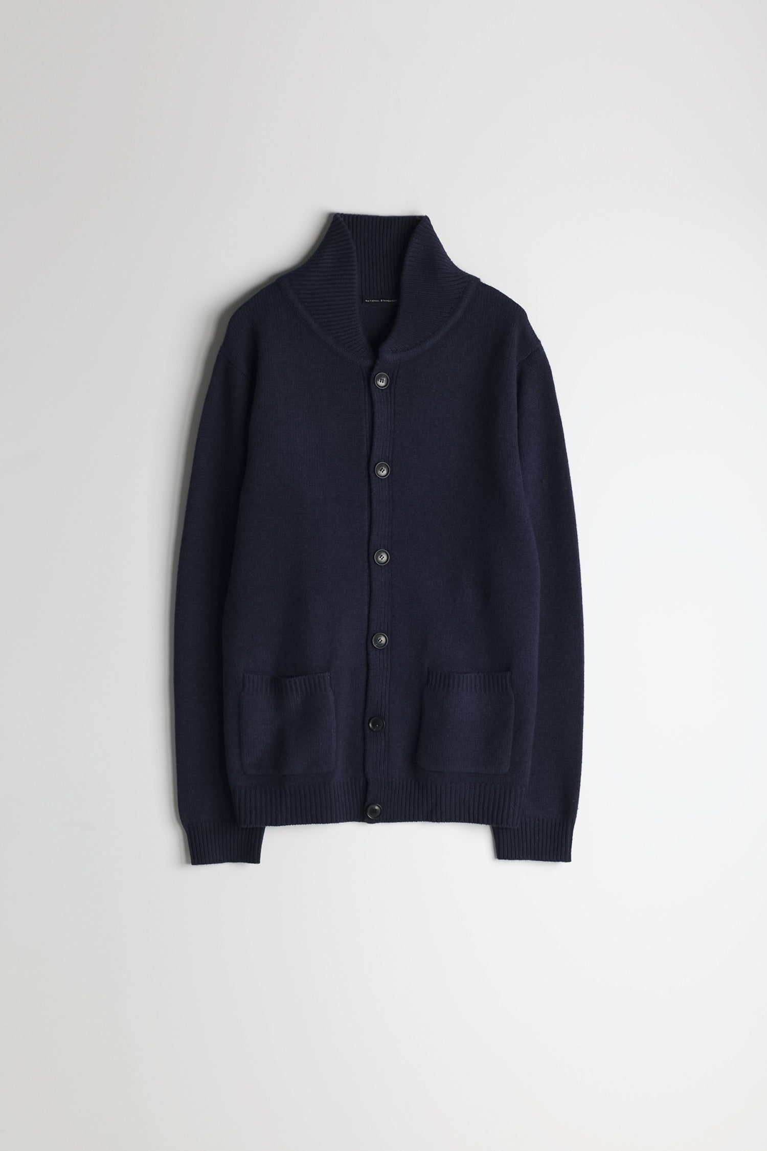 Lambswool Heavy Gauge Cardigan in Navy