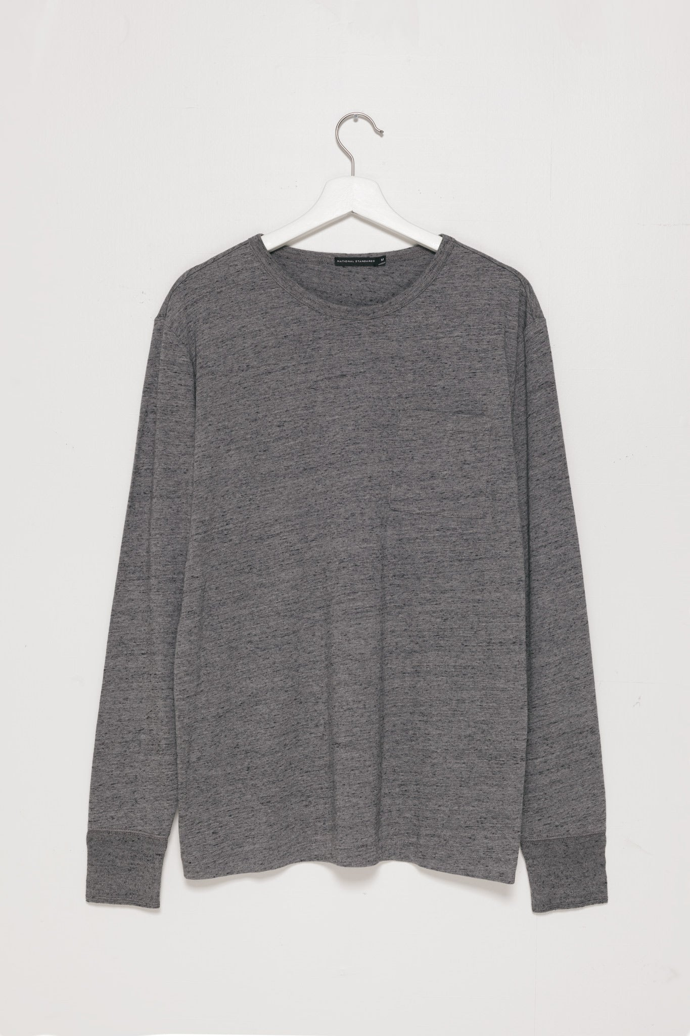 Base Jersey Crew Neck in Melange Dark Grey