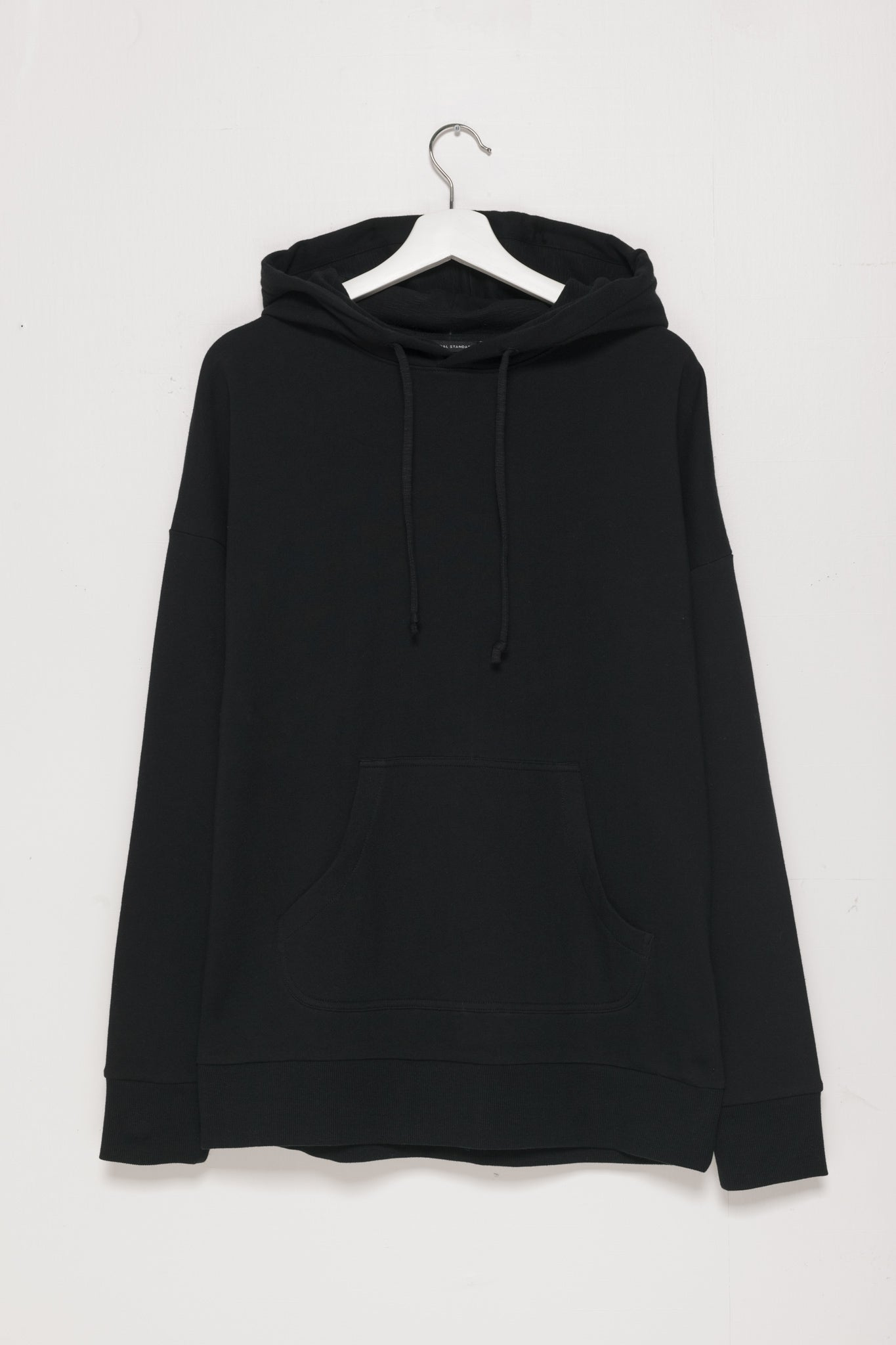 250gm French Terry Pullover Hoodie in Black