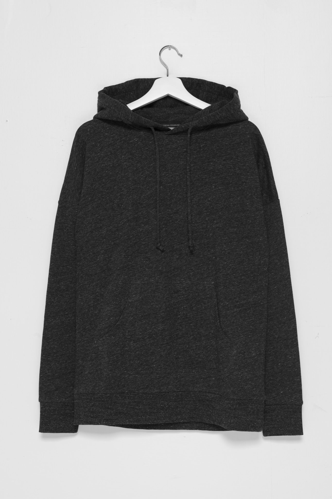 250gm French Terry Pullover Hoodie in Melange Black