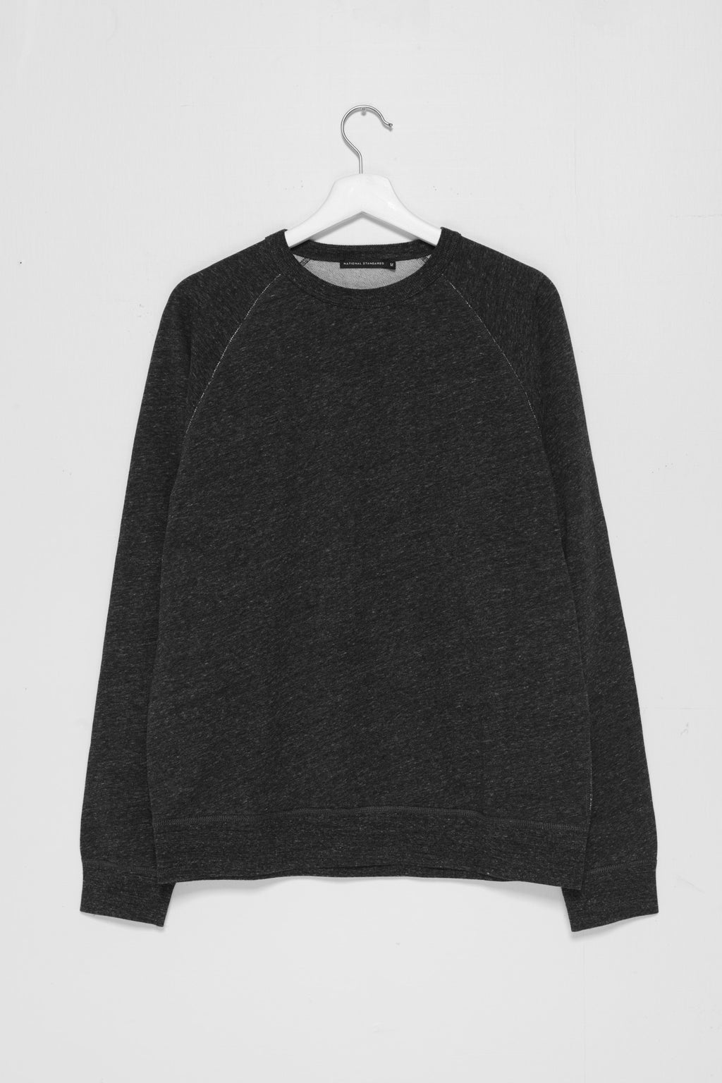 250gm French Terry Raglan in Melange Black