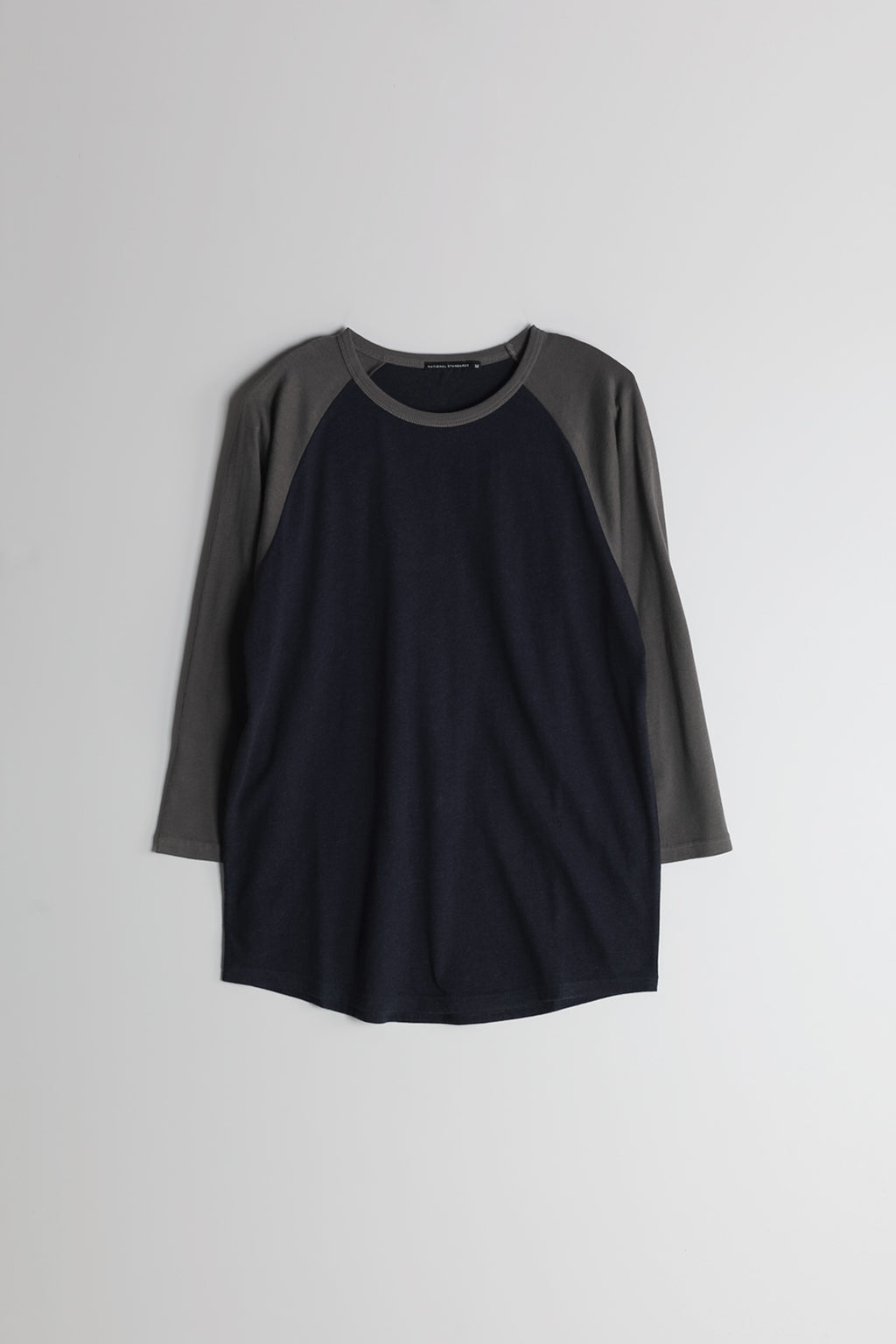 Spun Jersey Raglan in Navy and Grey