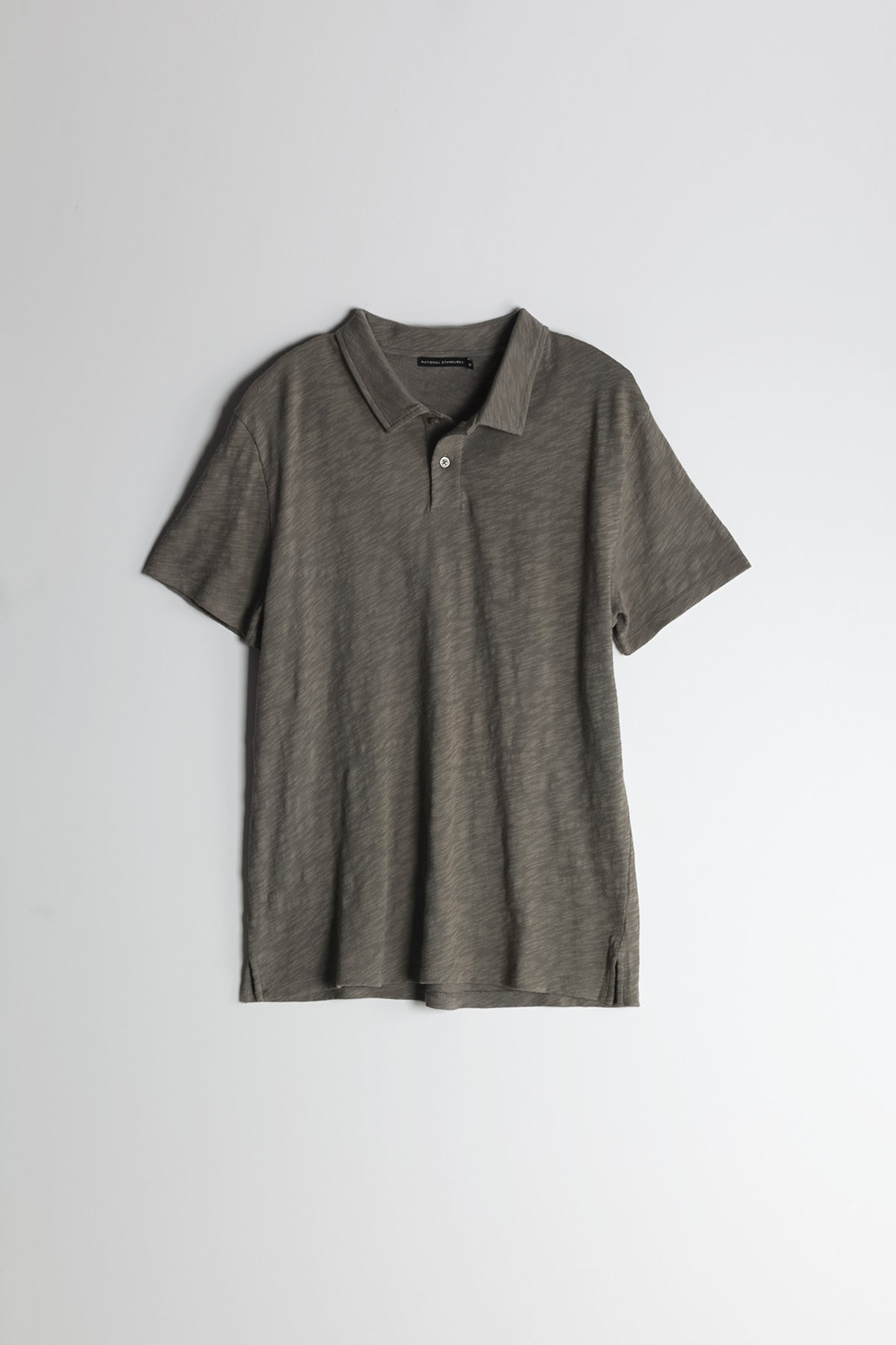 Slub Jersey Polo in Sage 007