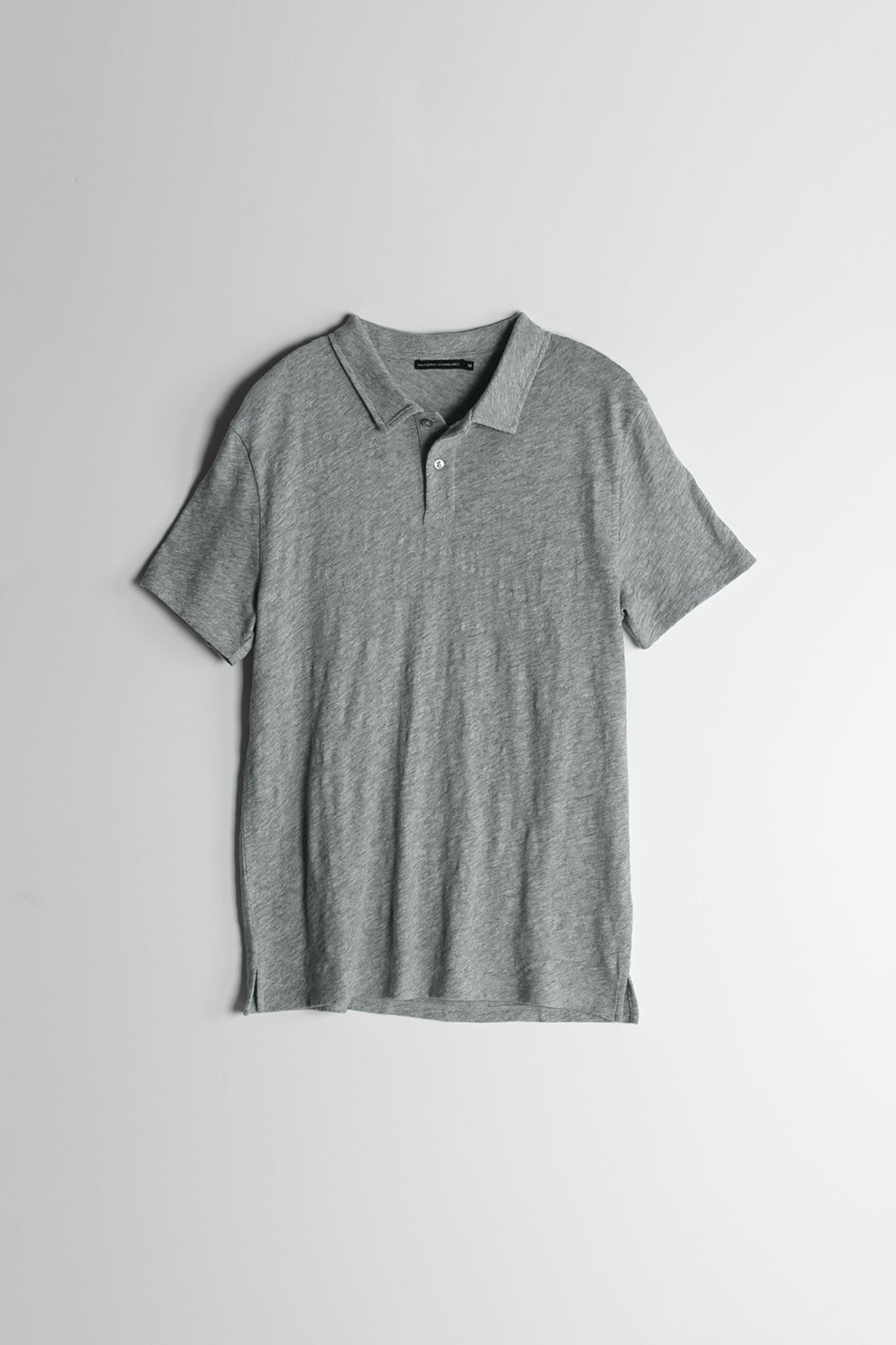 Slub Jersey Polo in Melange Grey 007