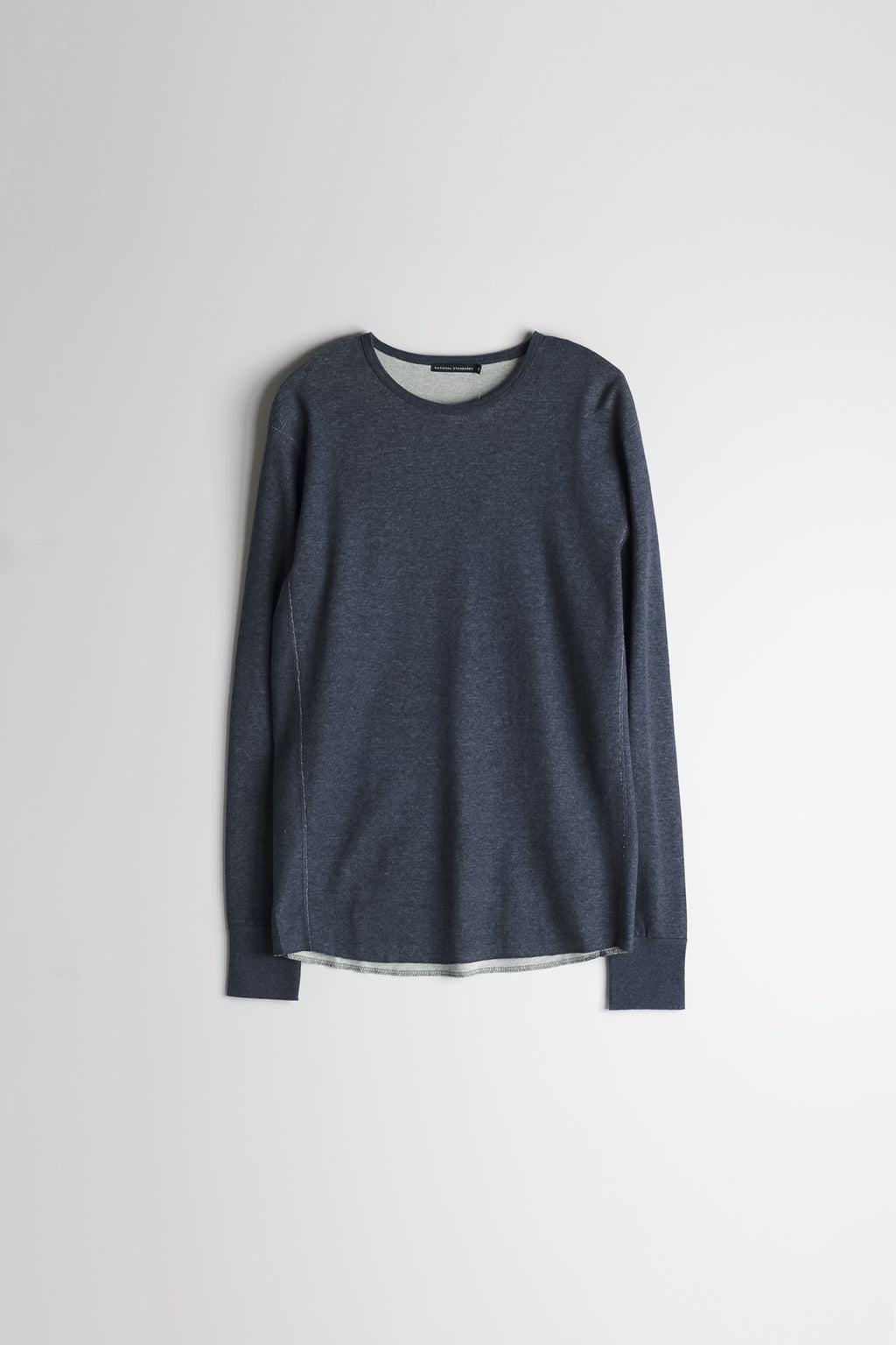 Mesh Thermal Crew in Melange Navy