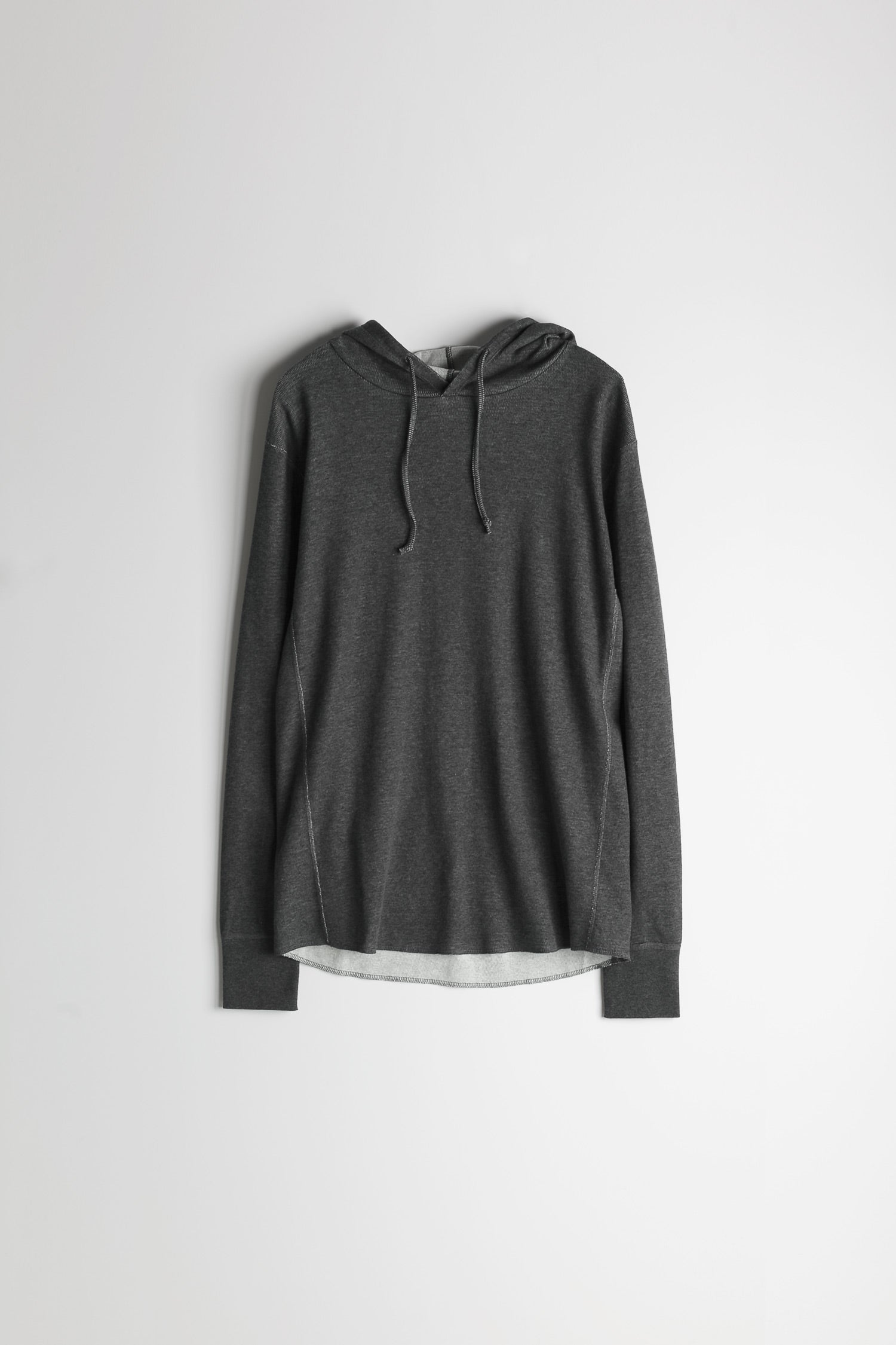 Mesh Thermal Pullover Hoodie in Melange Charcoal