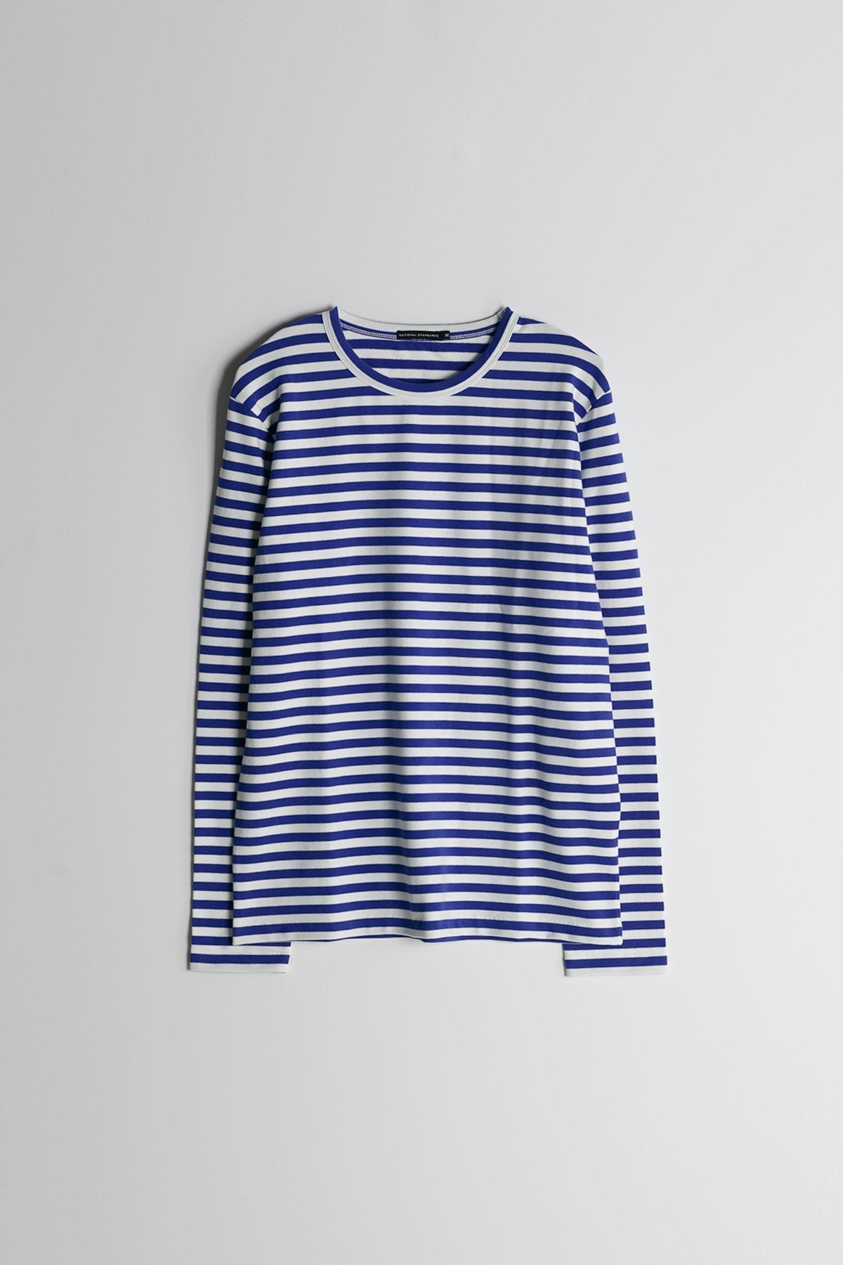 Marine Stripe L/S Crew in Blue and White