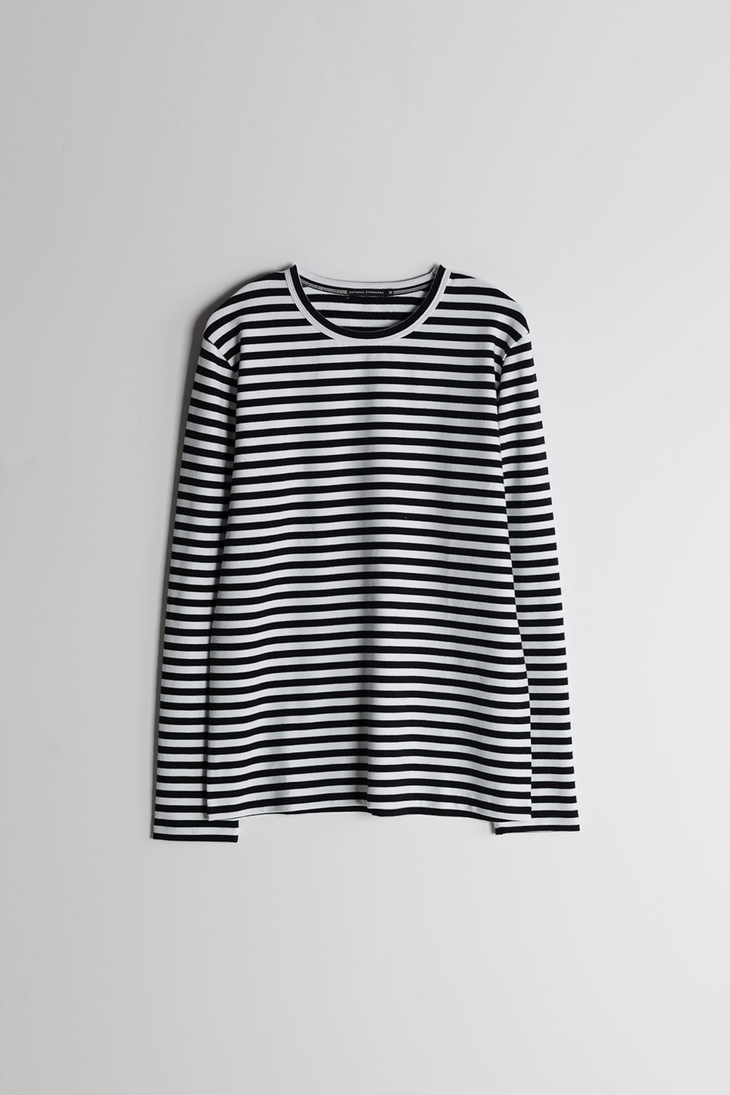 Marine Stripe L/S Crew in Black and White