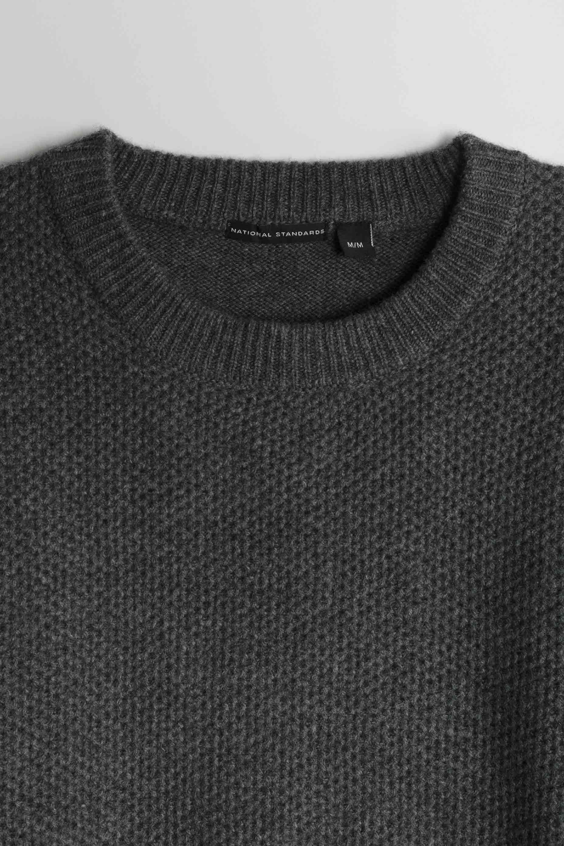 Lambswool Heavy Gauge Crew in Grey 02