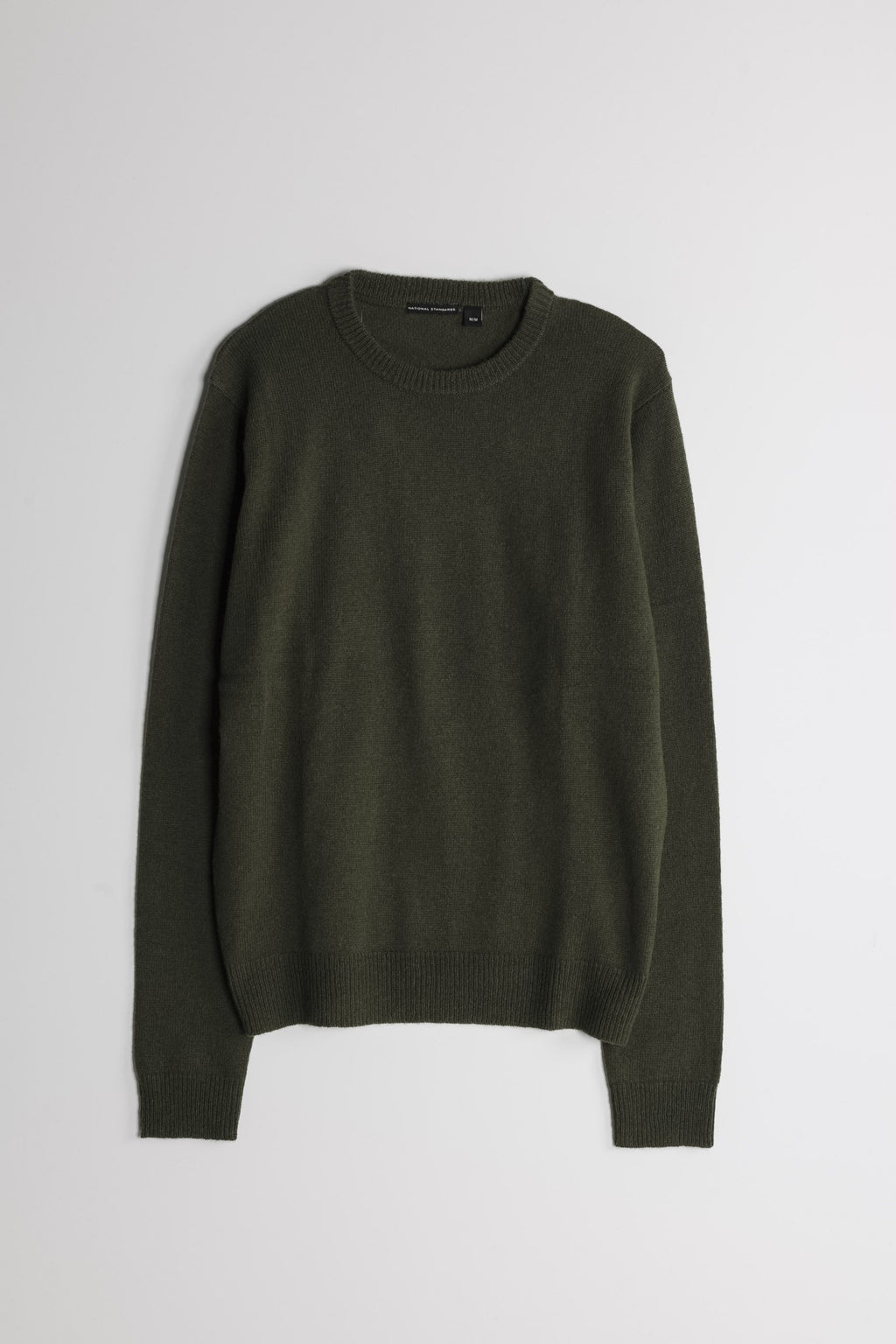 Lambswool Basic Crew in Army Green 01