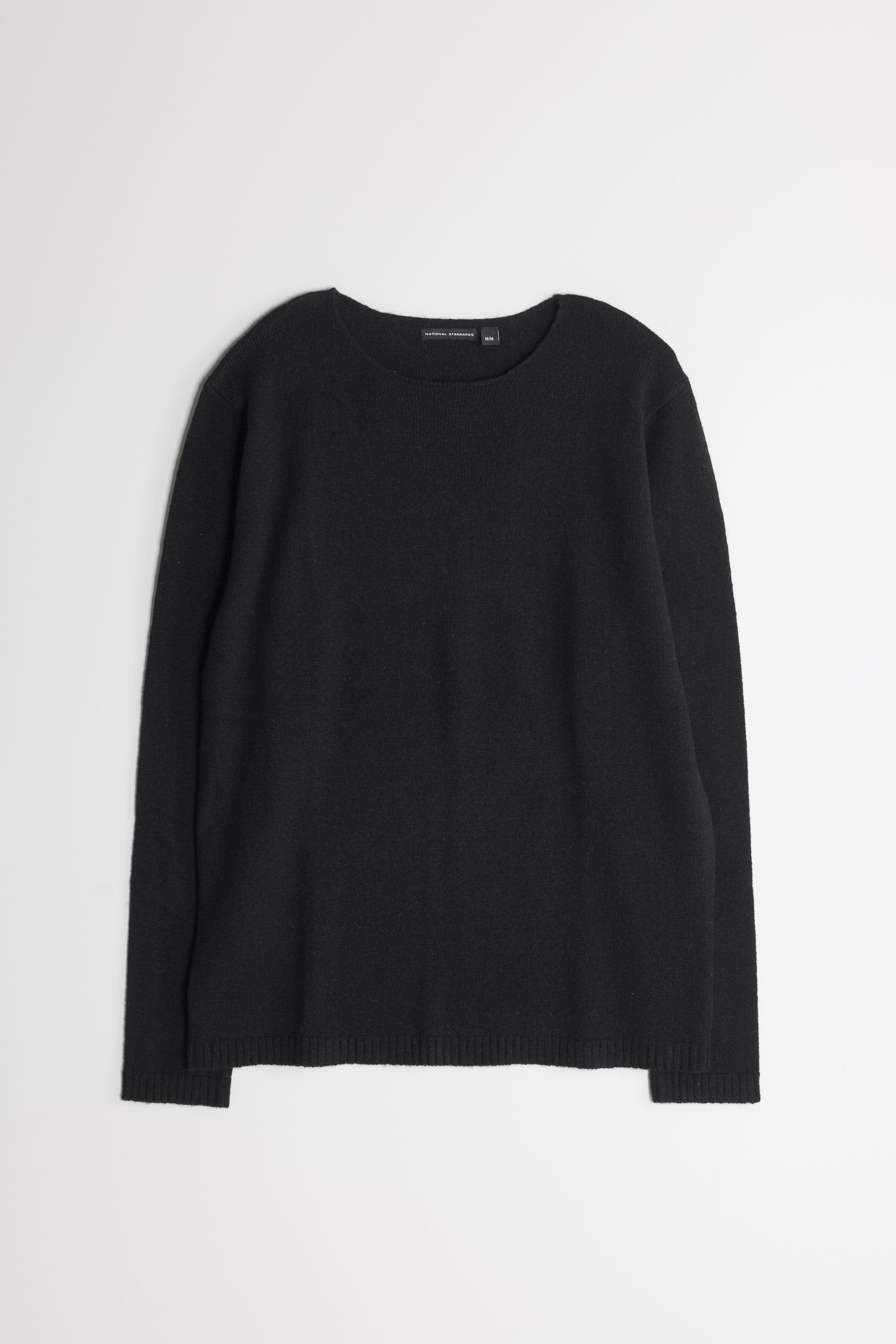 Lambswool Wide Neck in Black 01