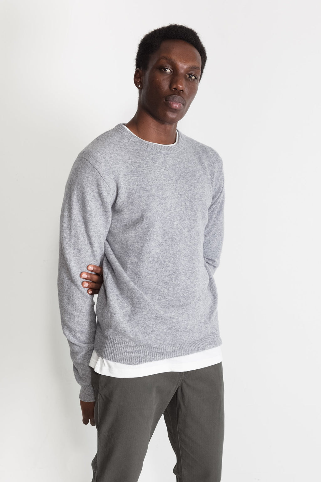 New Wool Crew Neck in Black 01