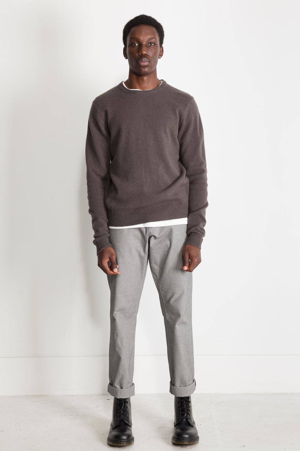 New Wool Crew Neck in Taupe 02