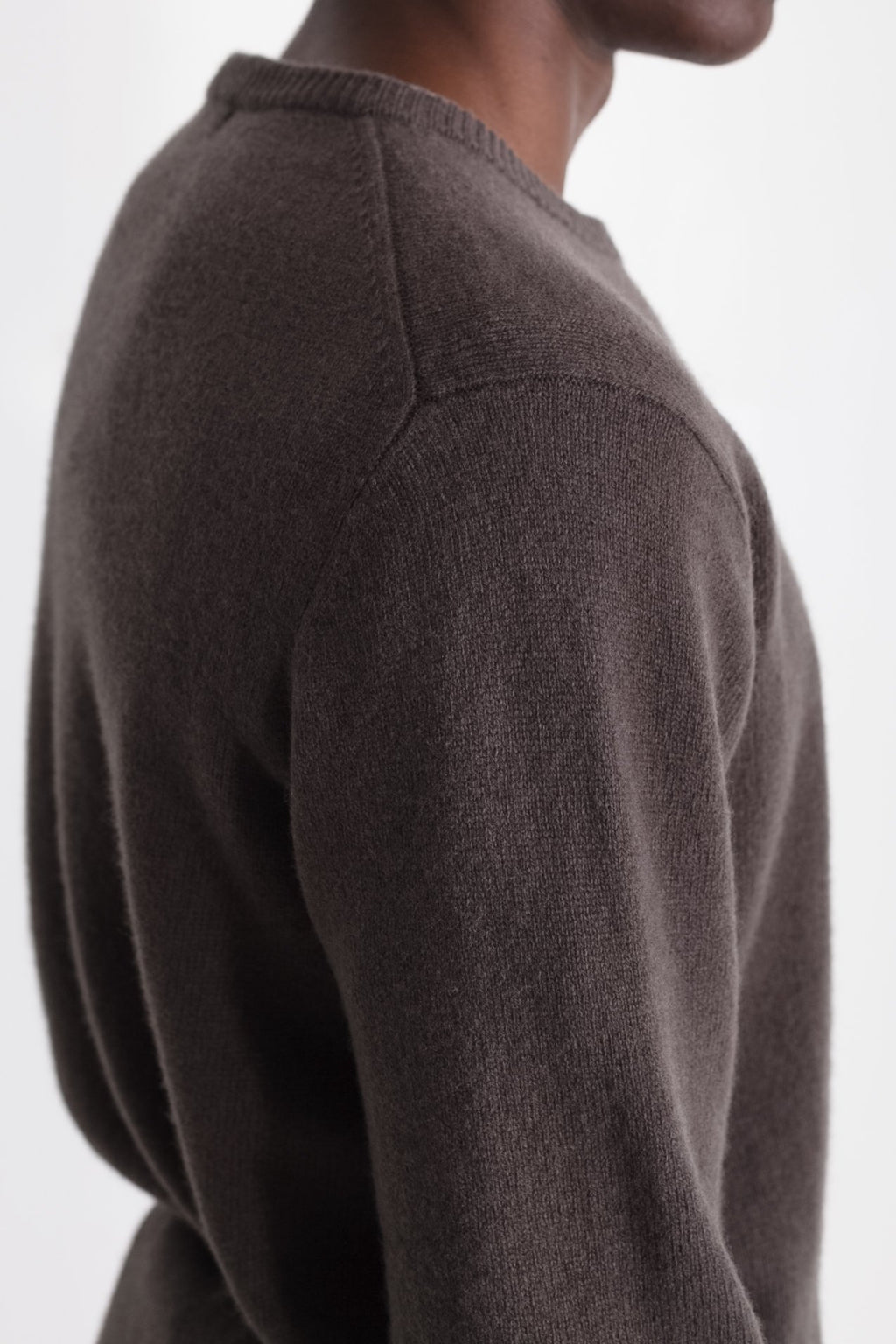 New Wool Crew Neck in Taupe 04
