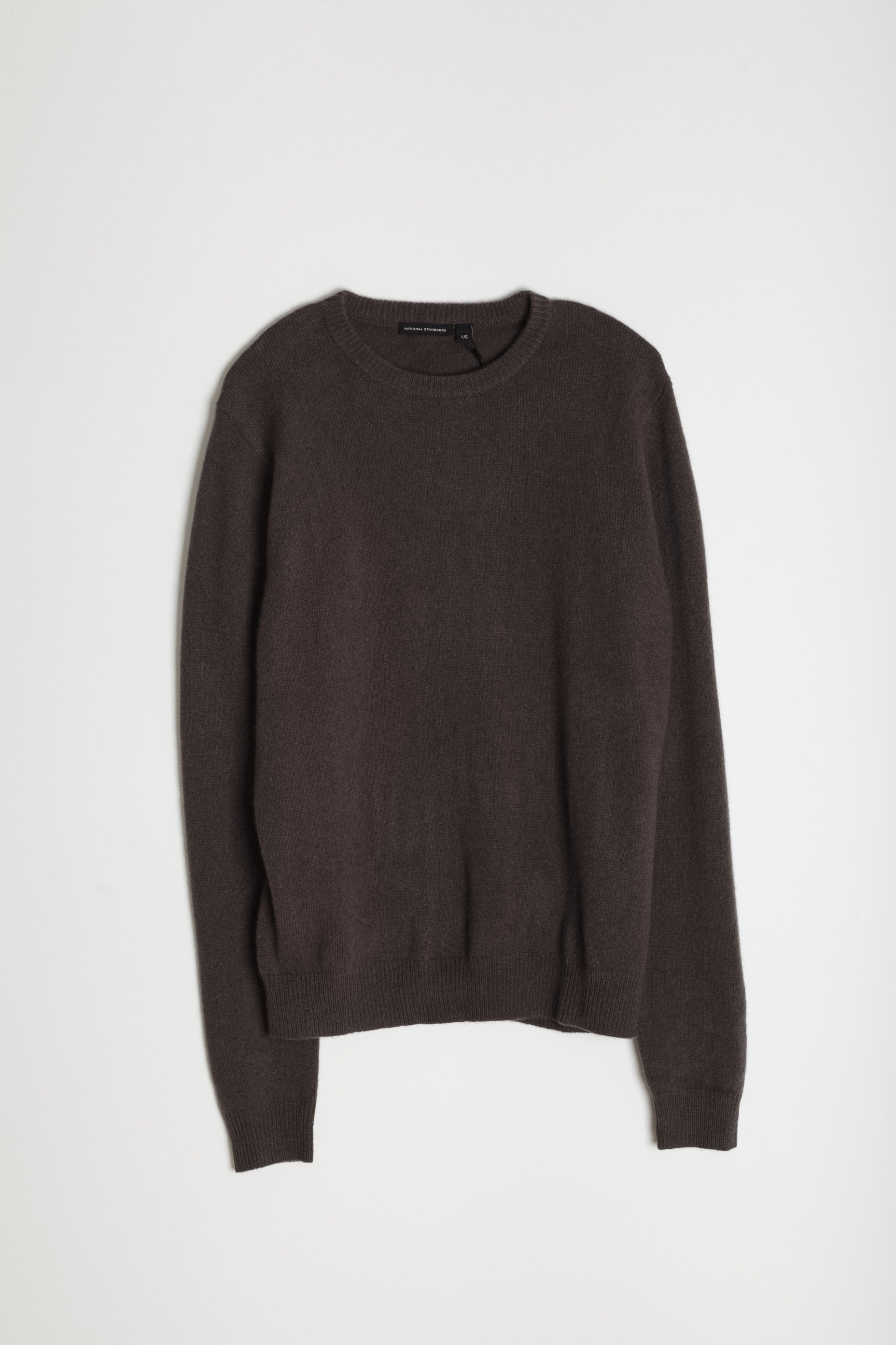 New Wool Crew Neck in Taupe 06