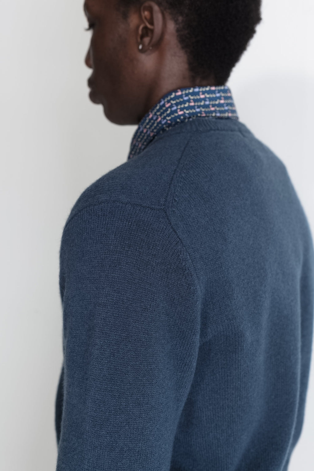New Wool Crew Neck in Blue 03