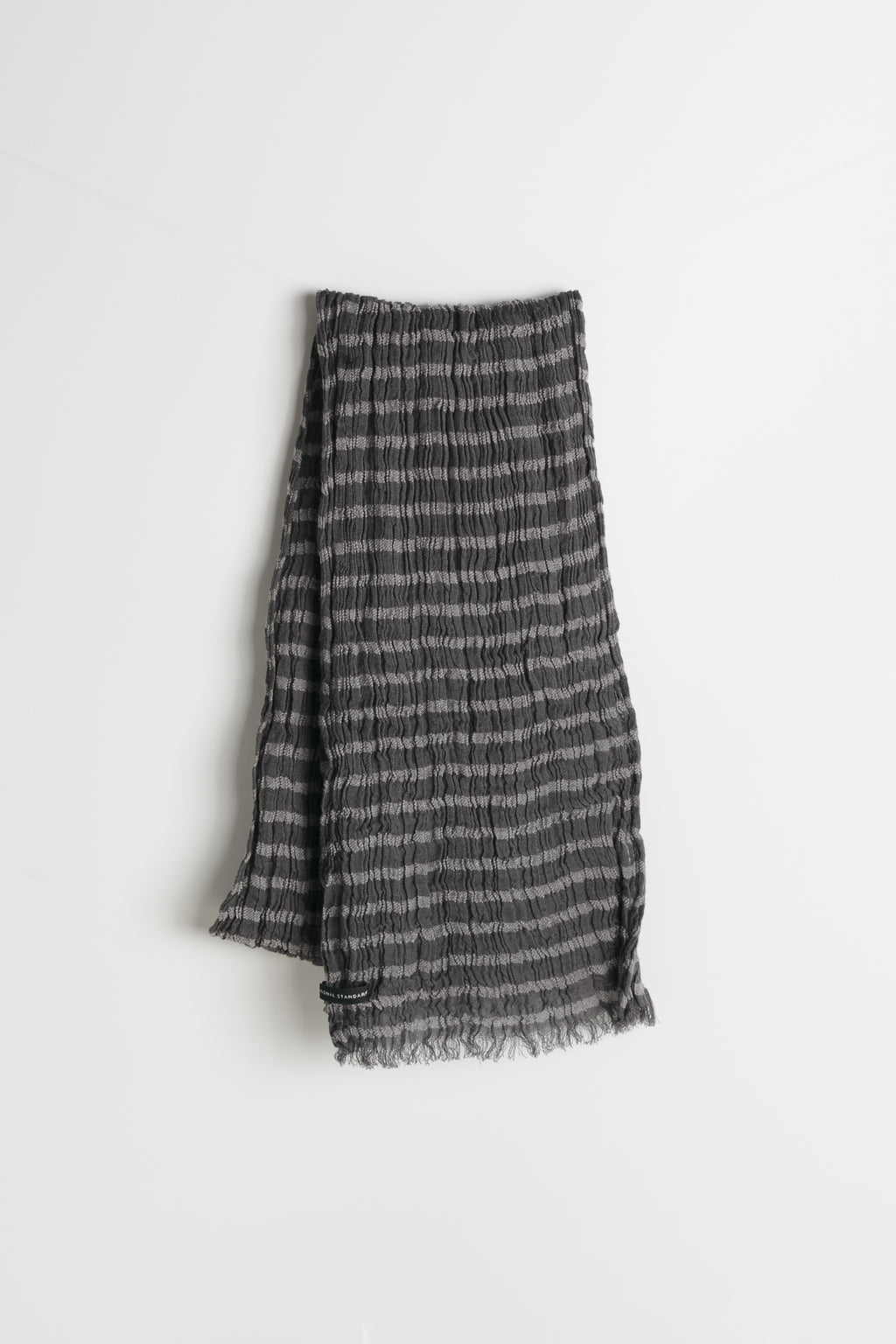 Horizontal Stripe Scarf in Grey 01