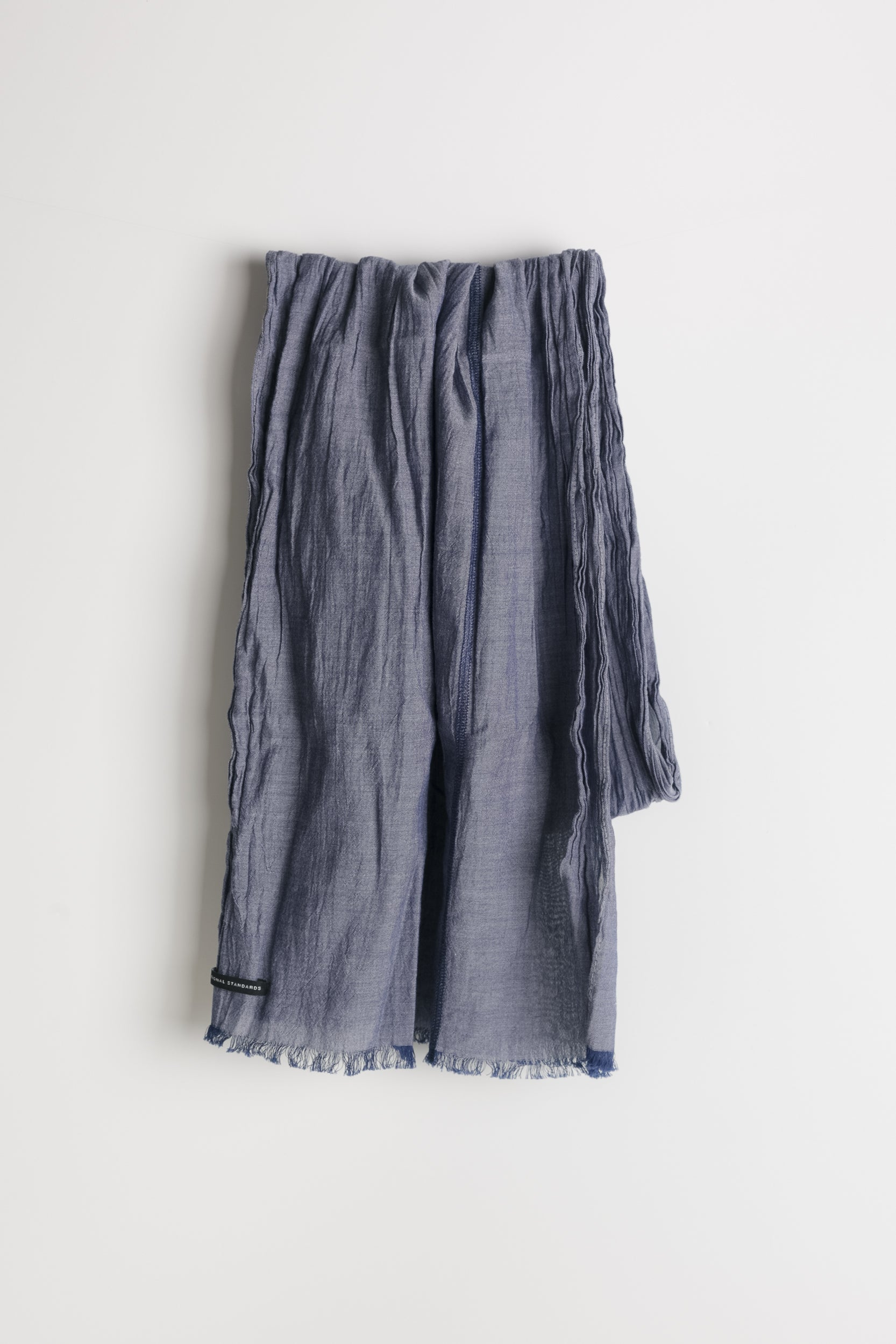 Chambray Scarf in Blue 001