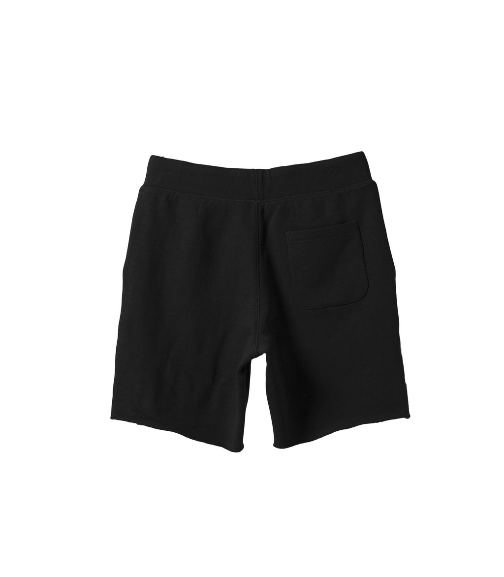 French Terry Drawstring Shorts Black