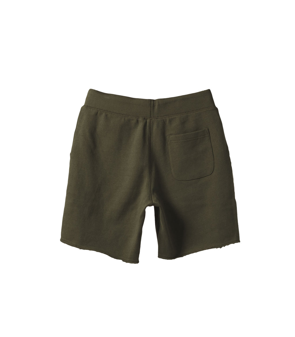 French Terry Drawstring Shorts Green NS1131-4