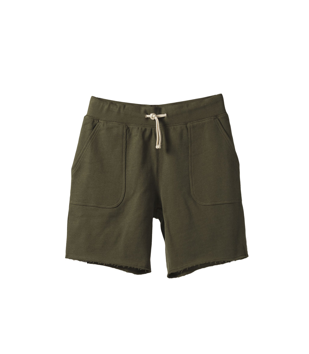 French Terry Drawstring Shorts Green