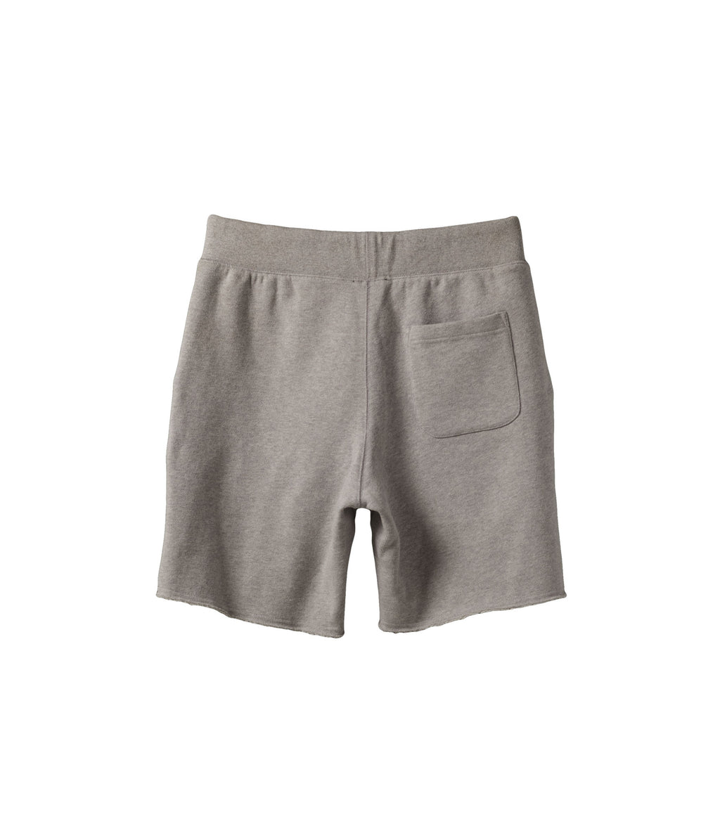 French Terry Drawstring Shorts Melange Grey