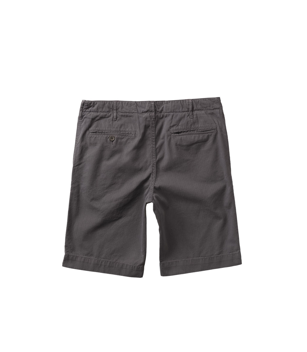 Herringbone drill shorts in mid Grey