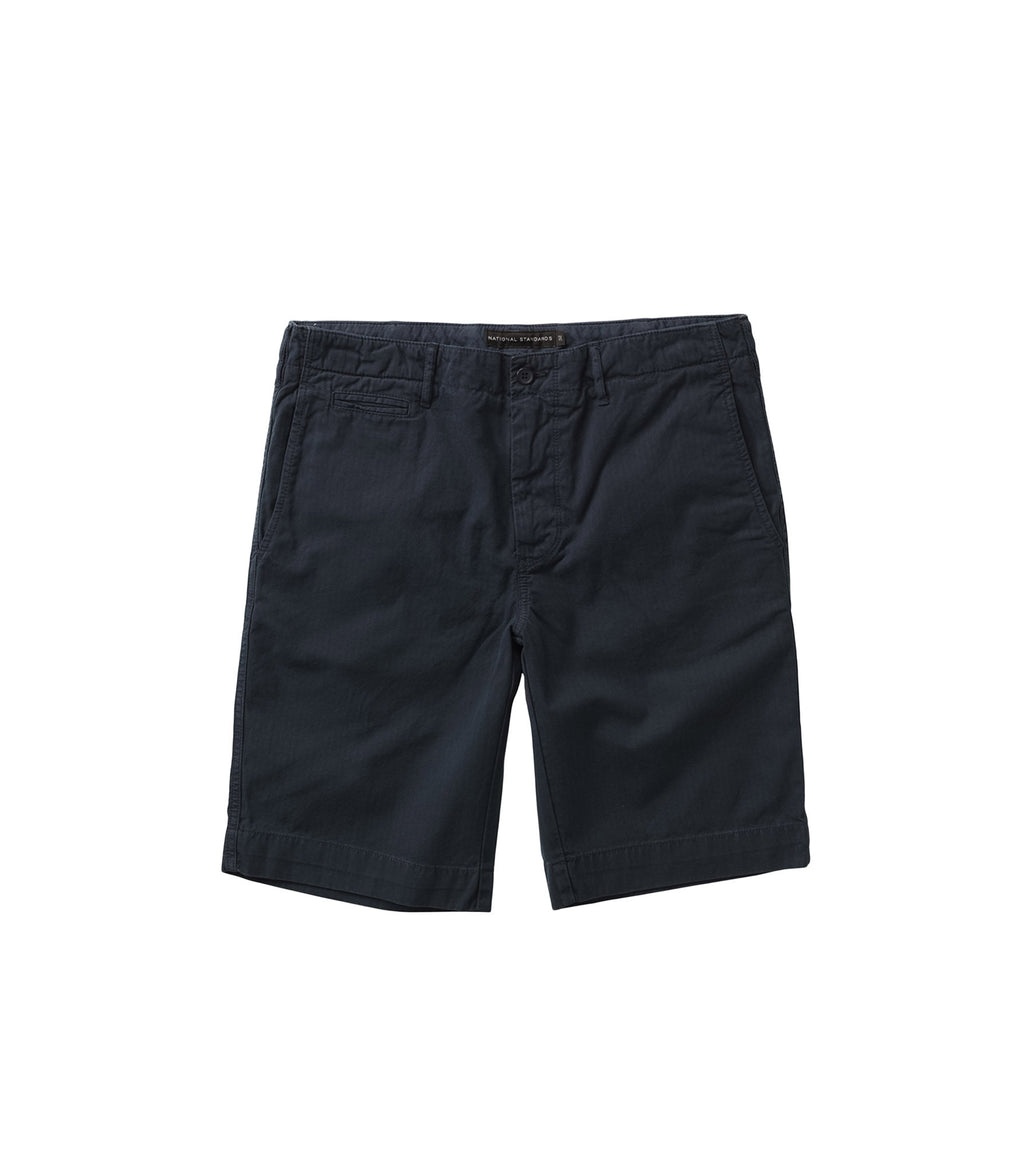 Herringbone drill shorts in Navy