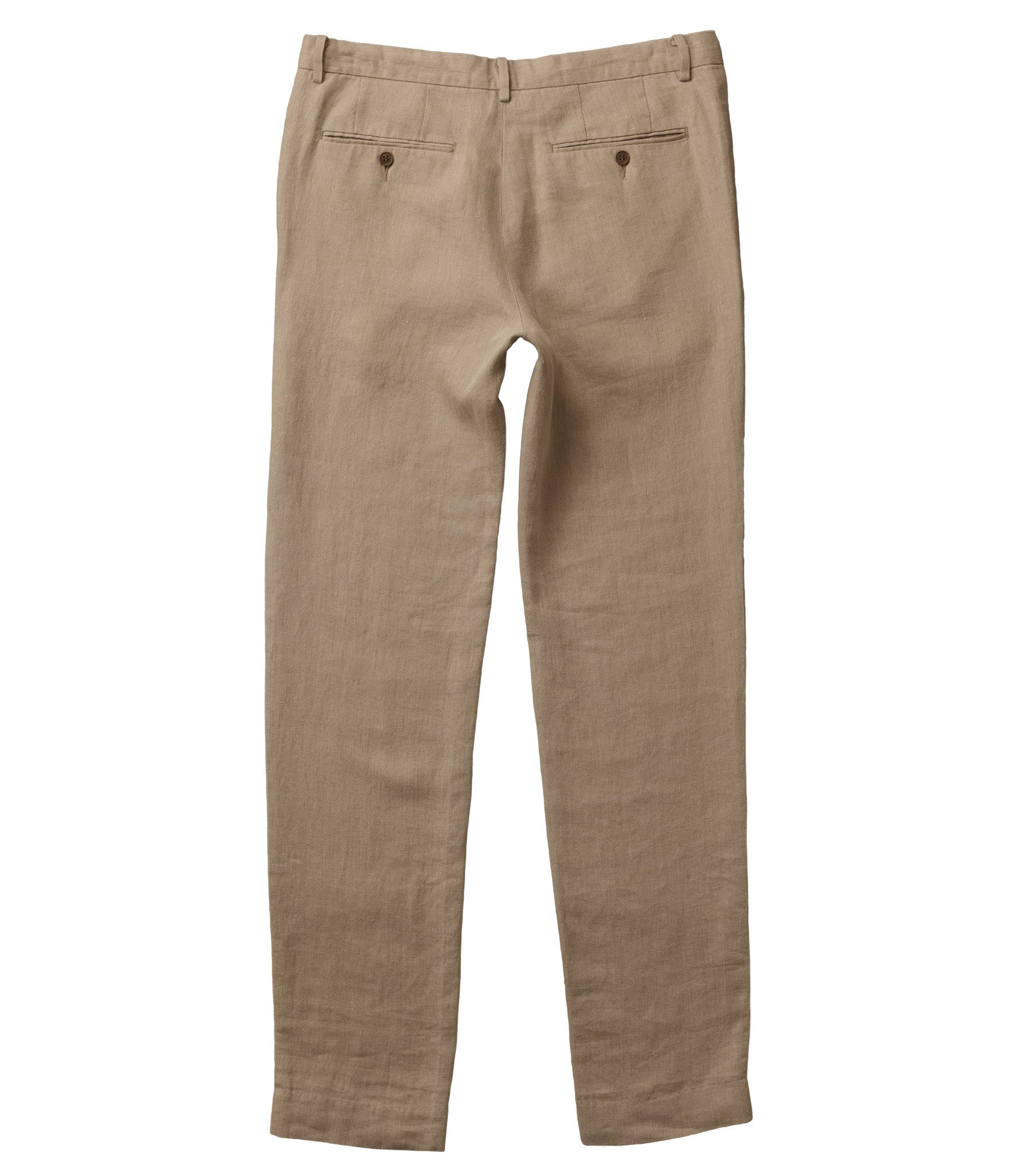 Linen Pant in Natural Back 001