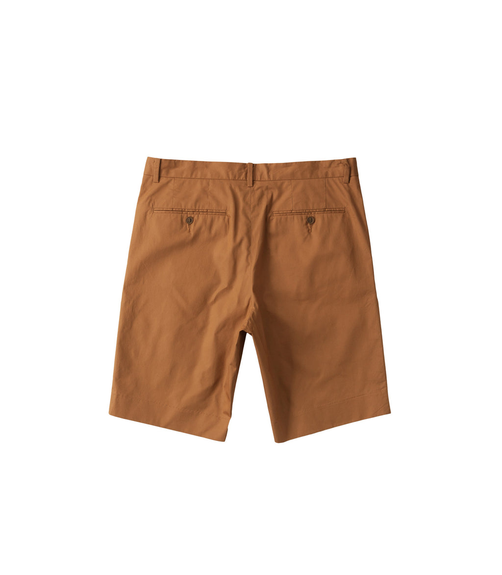 Poplin shorts in Cinnamon