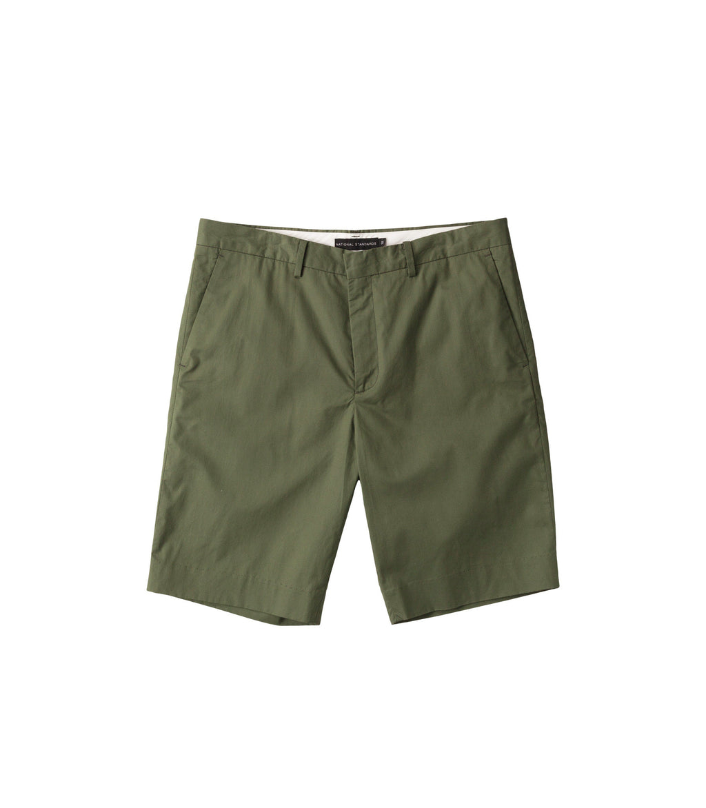 Poplin shorts in Green