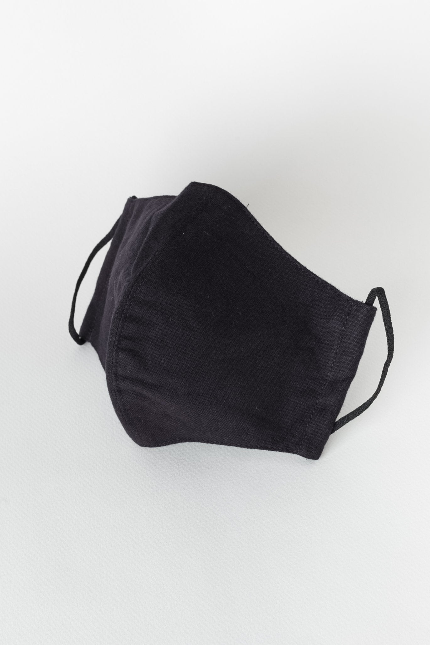Japanese Brushed Oxford Face Mask in Black 02