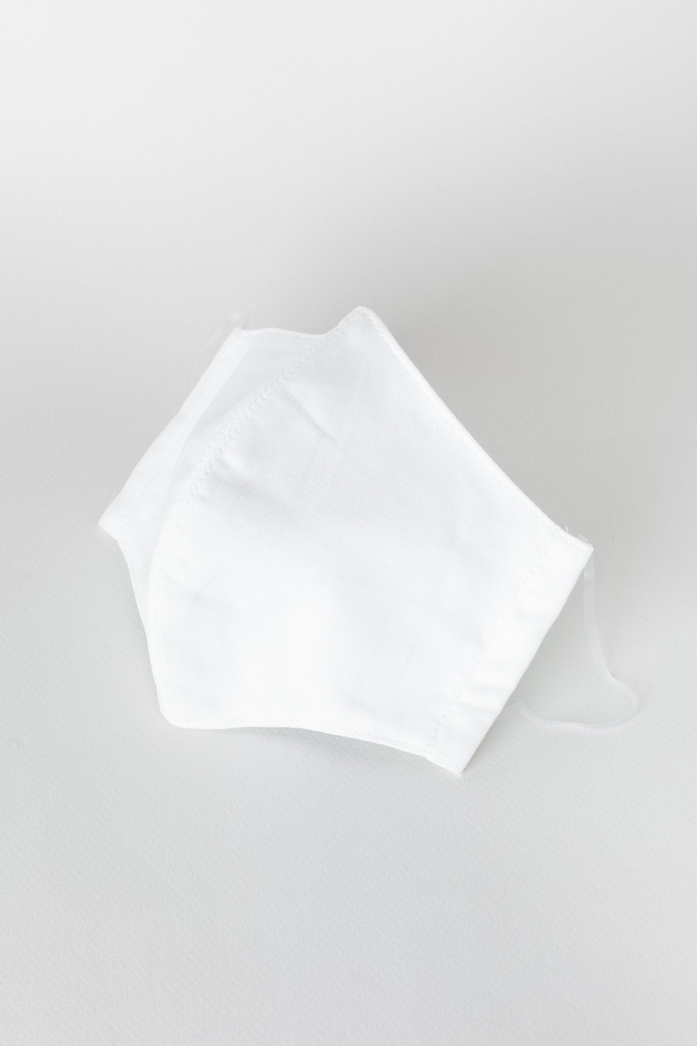 Japanese Oxford Face Mask in White 01