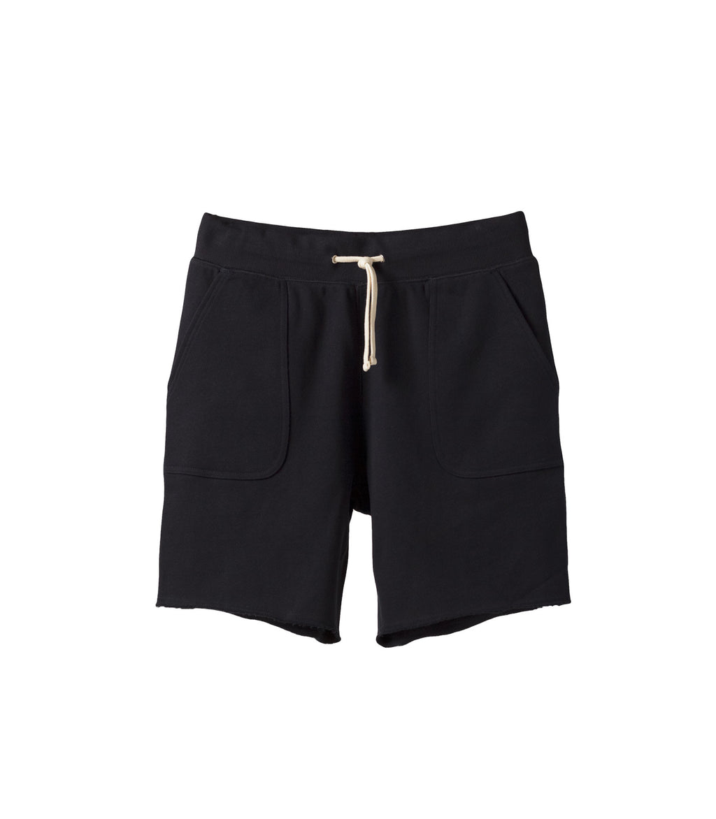 French Terry Drawstring Shorts Navy