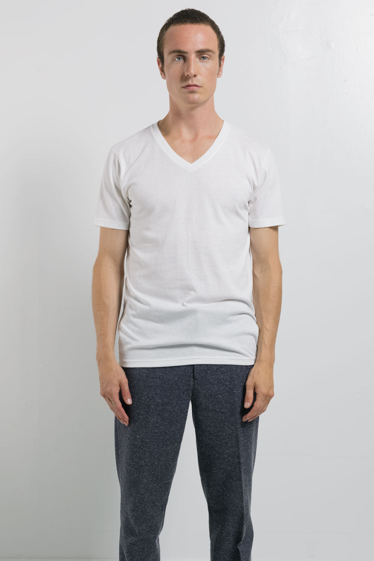 National Standards Tri-Blend Crew neck tee in White on male