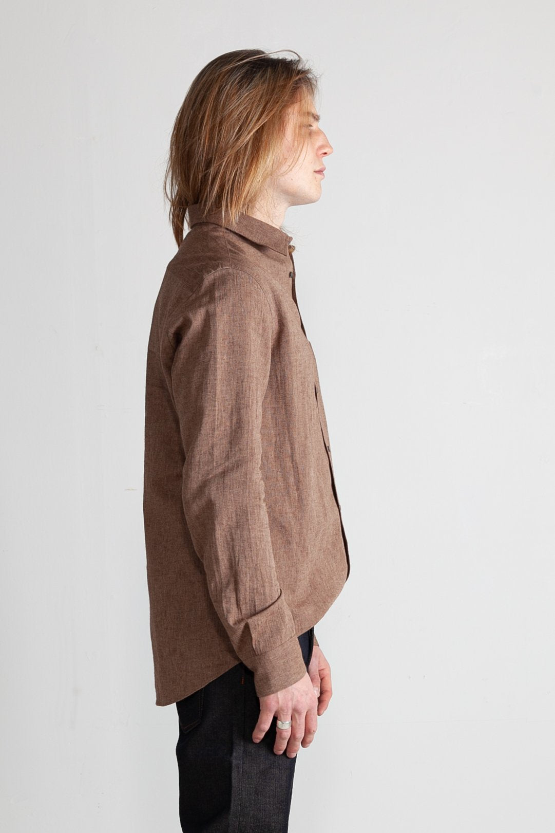 Japanese Euro Linen in Brown 03