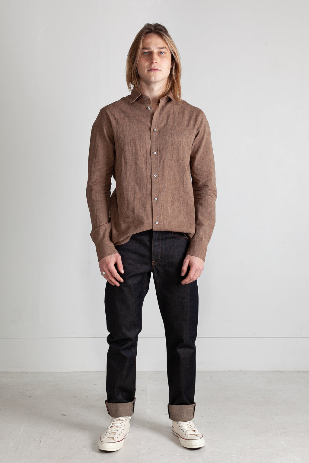 Japanese Euro Linen in Brown 01
