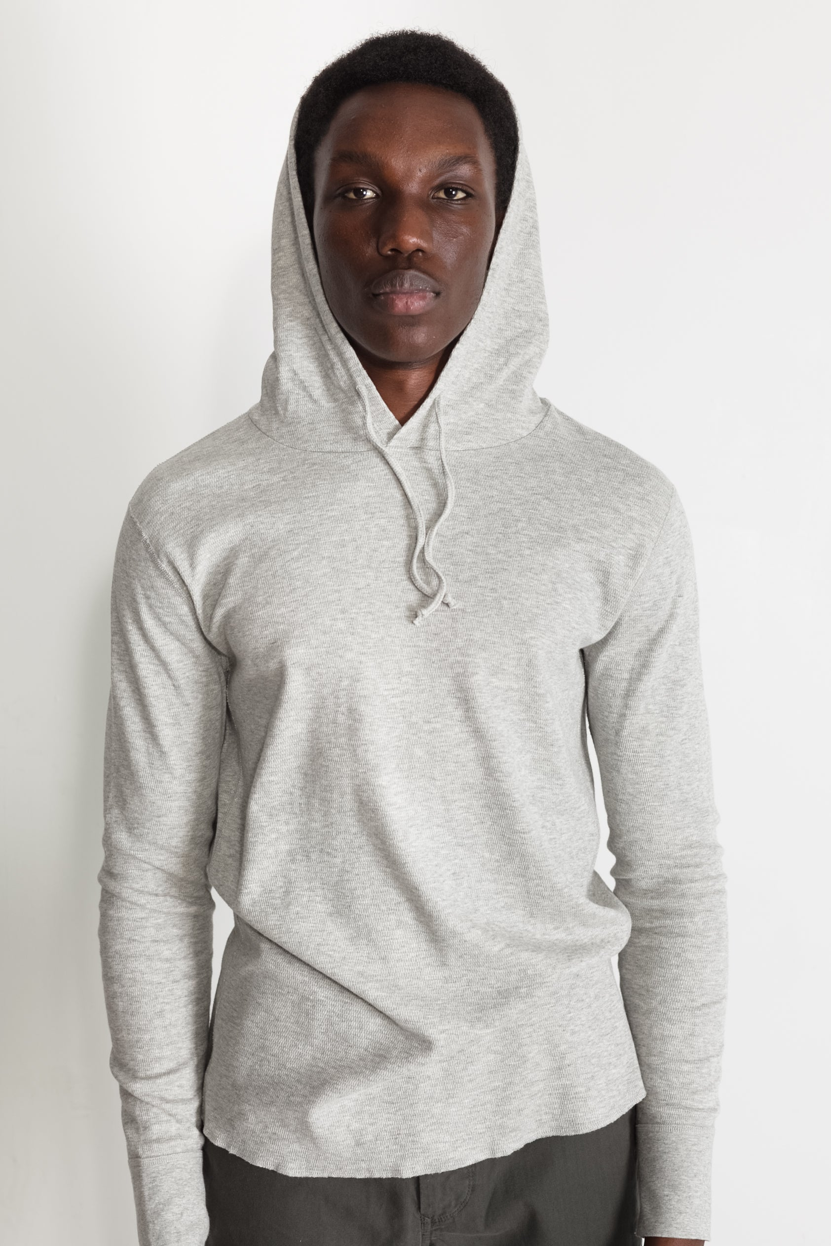 mesh thermal hoodie in grey 01