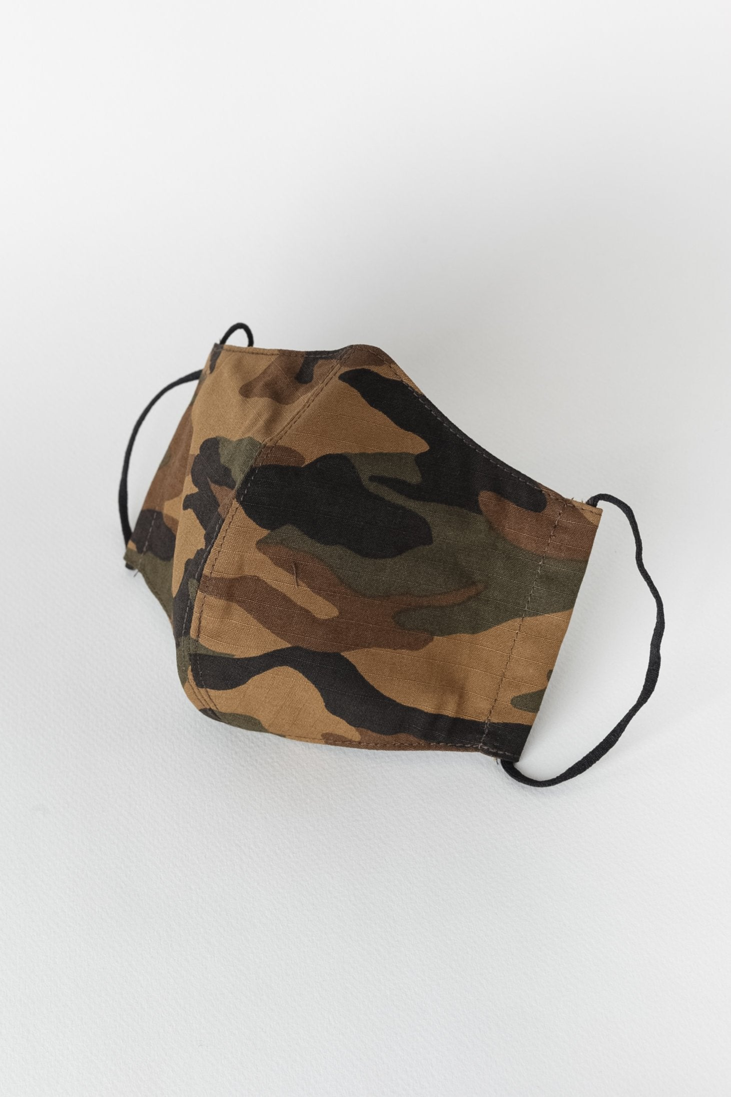 Japanese Camouflage Printed Ripstop Face Mask in Army 01
