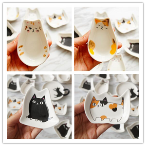 Chat J'adore assiette Lot 9 Coupelle Amuse-Bouche Chat