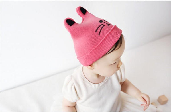 Chat J'adore bonnet Rose Lavande Bonnet Oreille Chat pour Enfants
