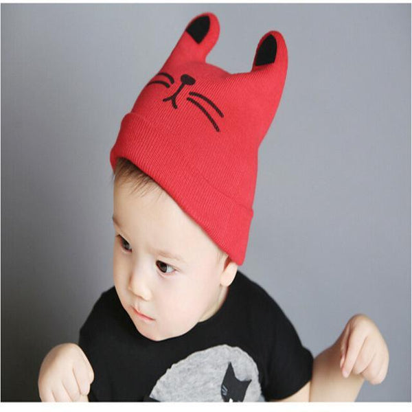 Chat J'adore bonnet Rouge Bonnet Oreille Chat pour Enfants